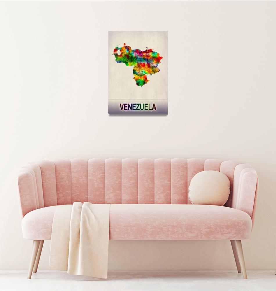 """Venezuela Map""  by Towseef"