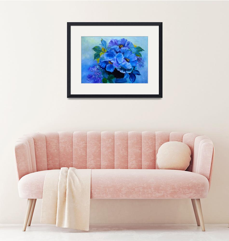 """""""Blue Poppies""""  (2014) by jennylee"""