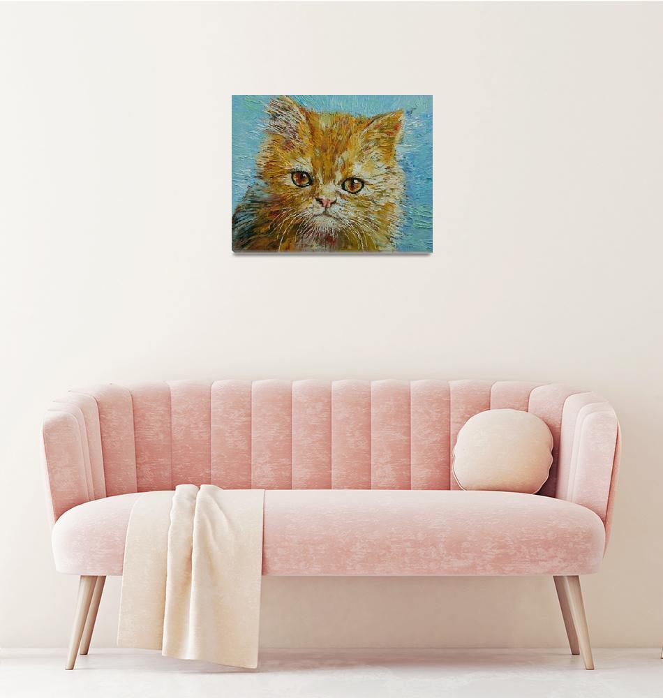"""Van Gogh the Kitten""  by creese"