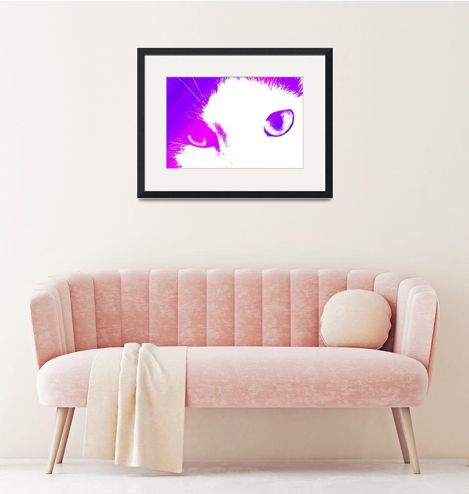 """""""I Can See You Cat (Pink and Purple)""""  (2010) by ValeriesGallery"""