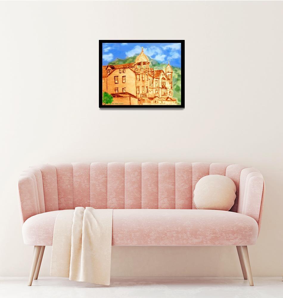 """Barker House Color""  (2017) by ralphnelsen"