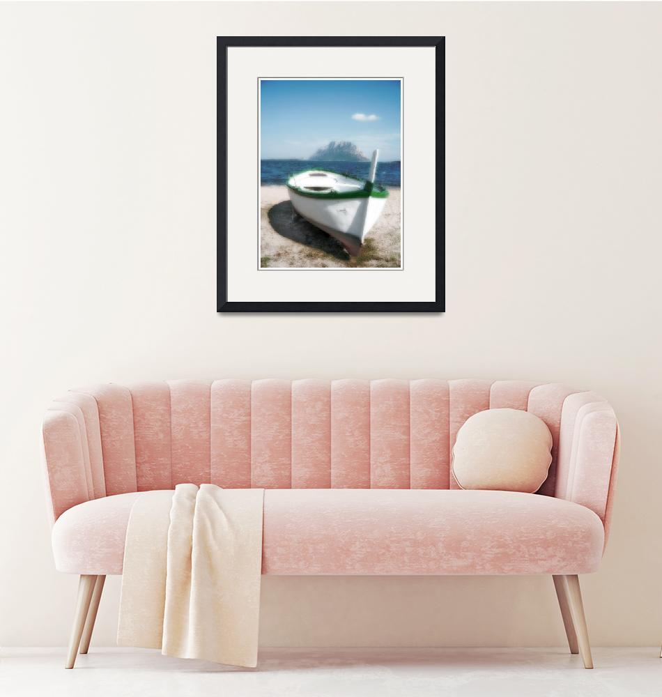 """""""THE BOAT,THE ISLAND AND THE CLOUD""""  by KARMADESIGNER"""