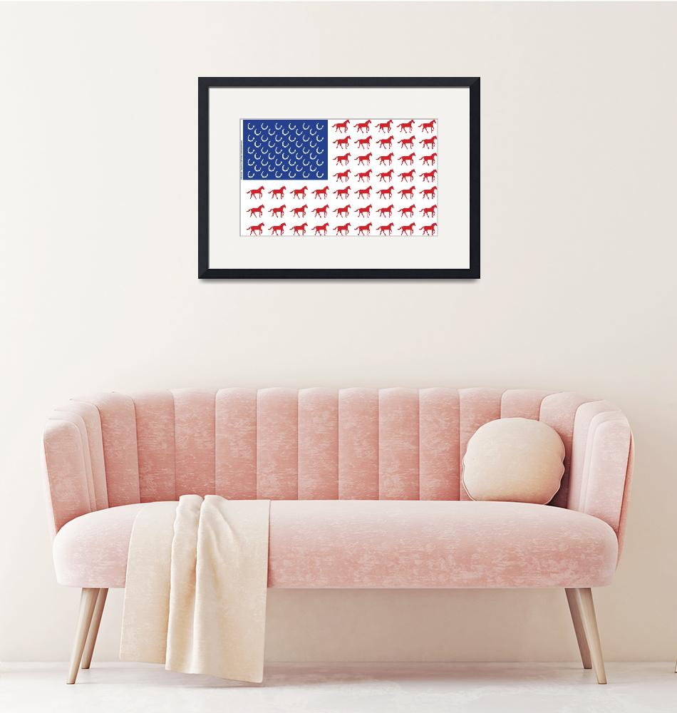 """""""American Flag Horse Design""""  (2008) by crazyabouthercats"""