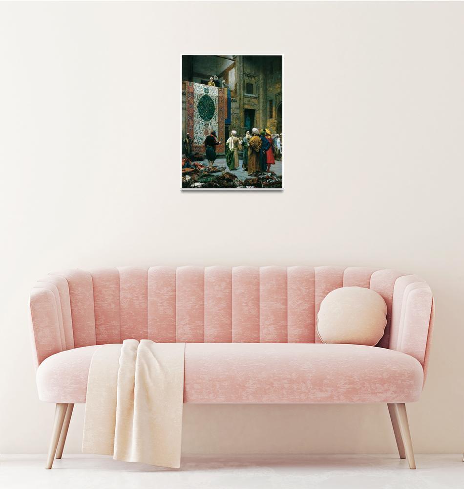 """The Carpet Merchant by Jean-Leon Gerome""  by ArtLoversOnline"