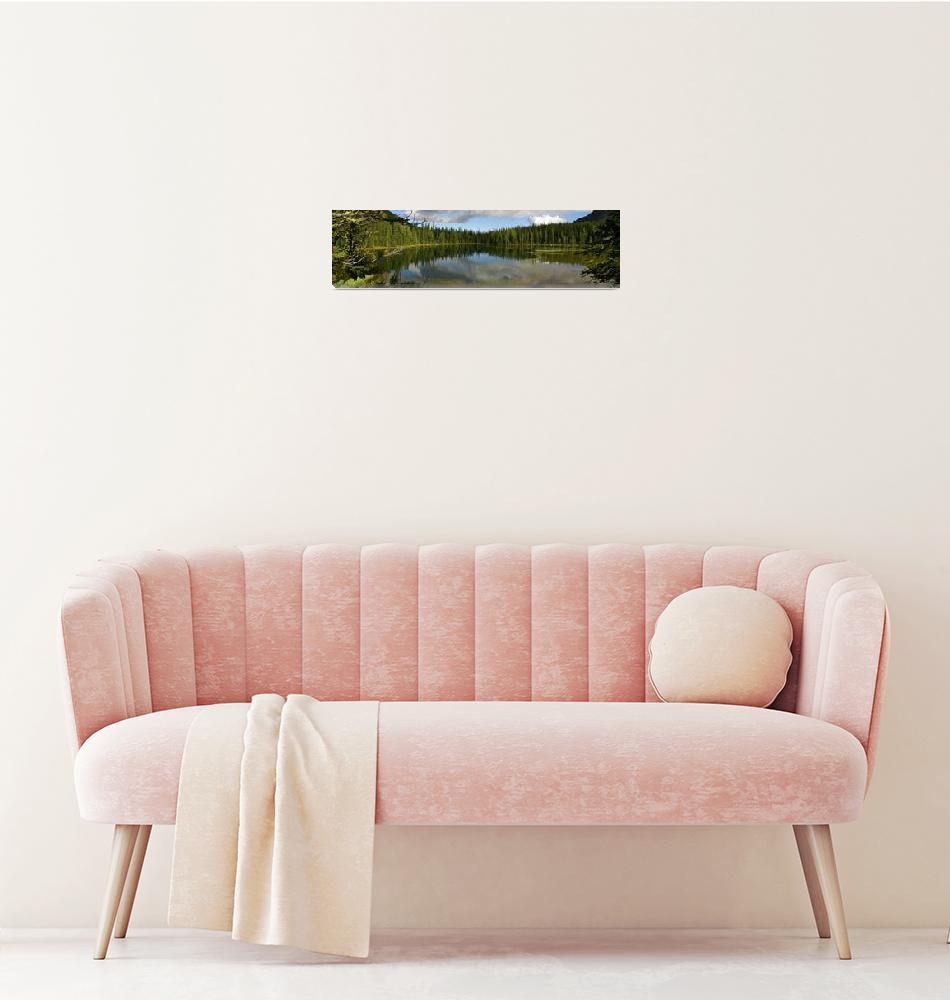 """Lower Crater Lake Panorama, Okanogan-Wenatchee Nat""  by jackchinook"