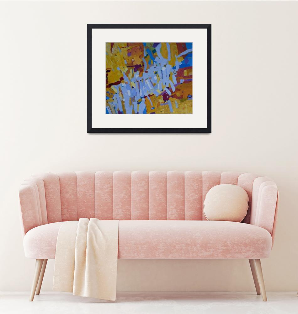 """""""Abstract Painting Living Room Wall Art""""  (2019) by Maggy"""