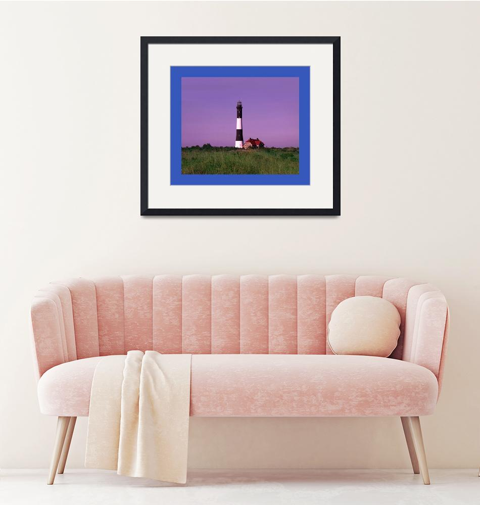 """Lighthouse Violet Sky large blue border""  (2013) by TheNorthernTerritory"