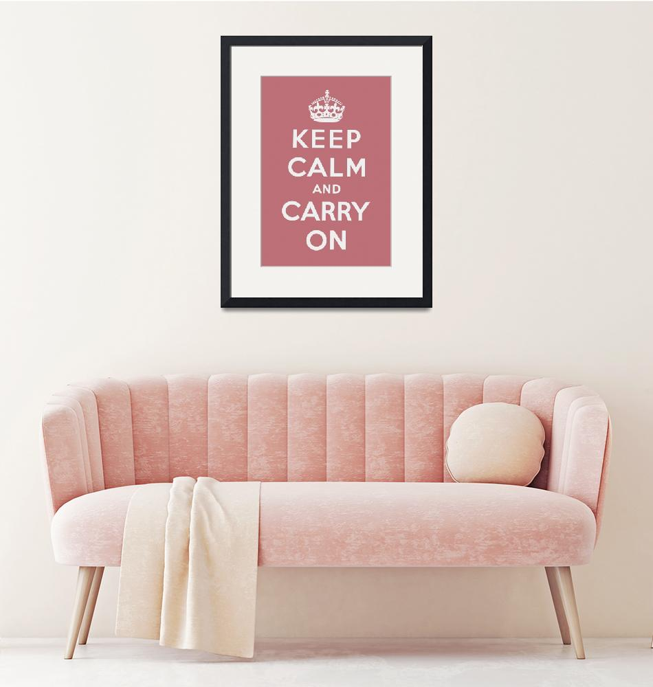 """""""Pink Keep Calm And Carry On 2""""  by oldies"""