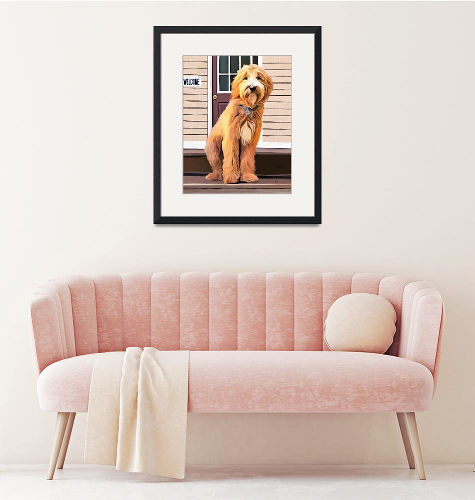 """""""Cooper the Goldendoodle""""  (2019) by tammyleebradley"""