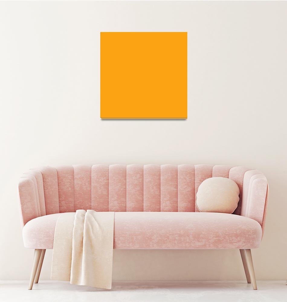 """Square PMS-137 HEX-FCA311 Orange""  (2010) by Ricardos"