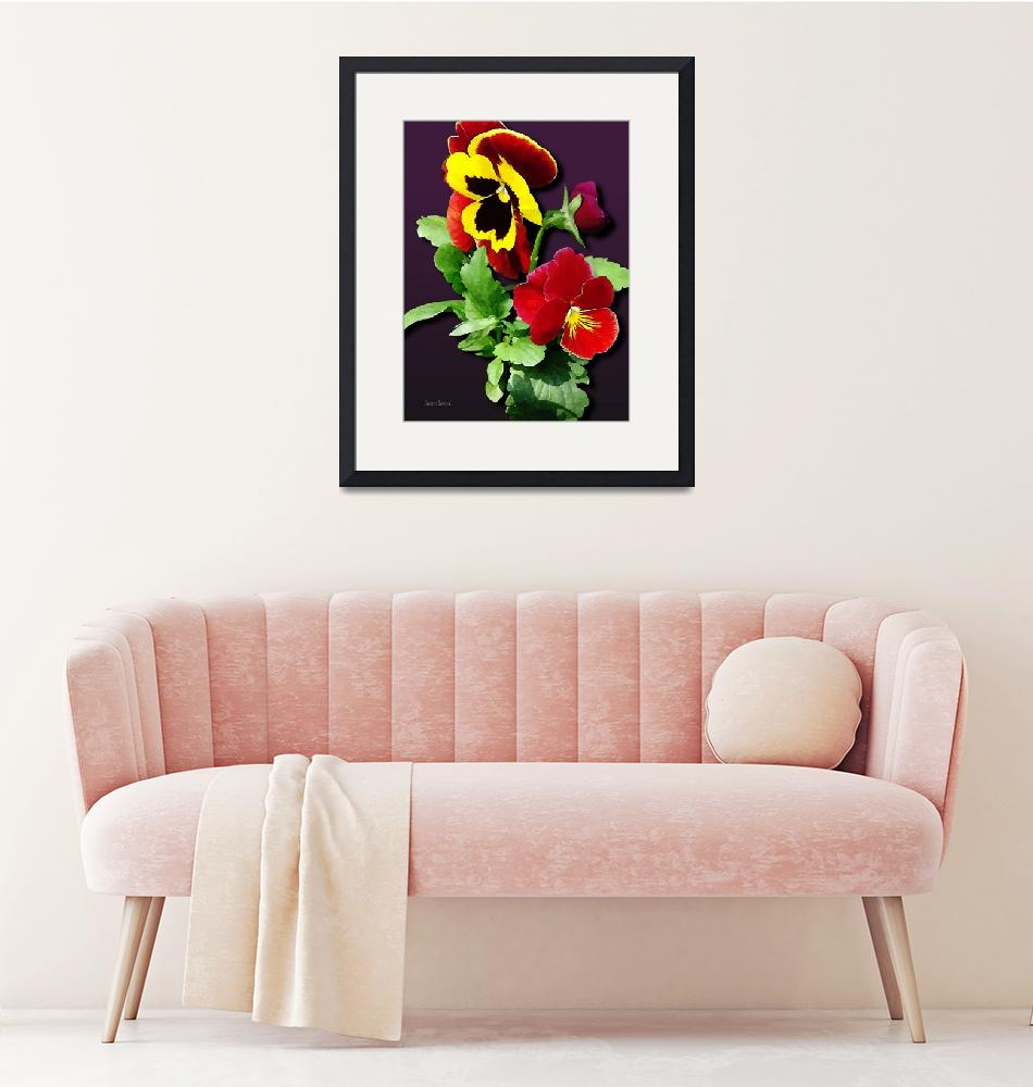 """Pansy Family""  by susansartgallery"