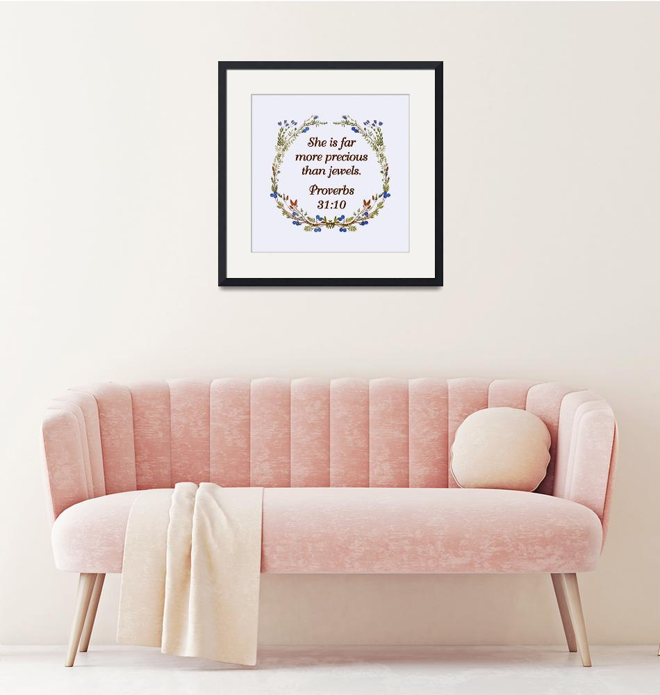 """""""BIBLE QUOTES ON BLUEBERRY WREATH-page-002""""  by marymase"""