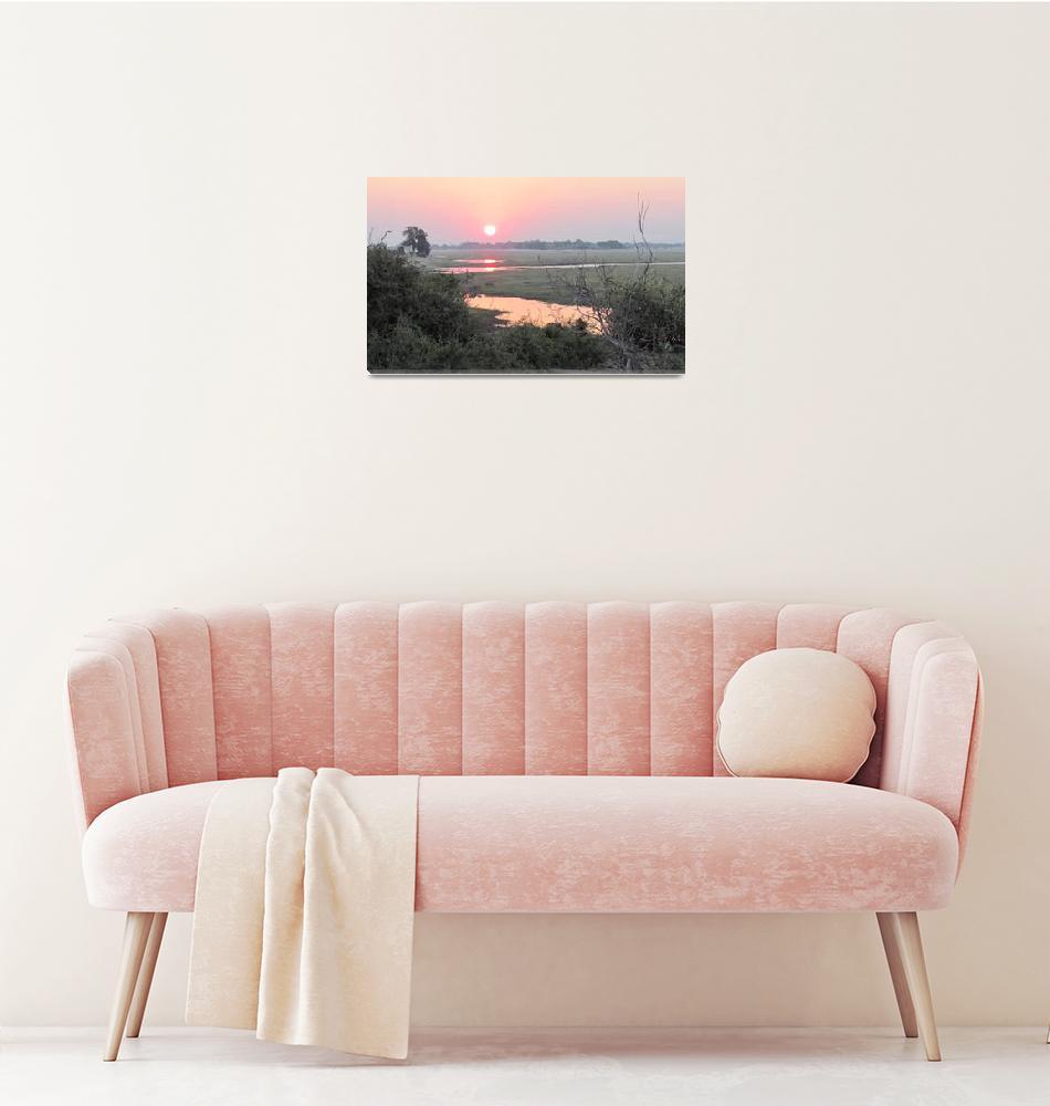 """Sunset in Botswana""  by TNorth"