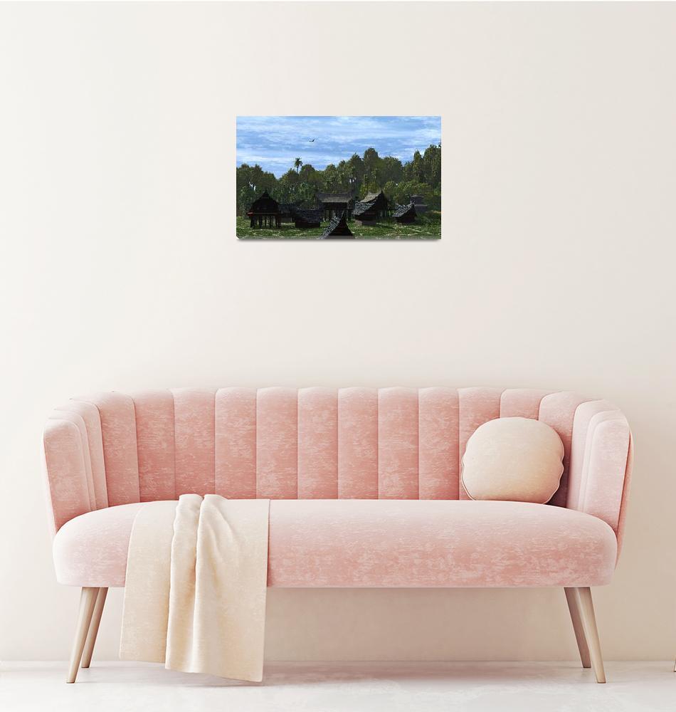 """Forest Village I""  by LAArtworks"