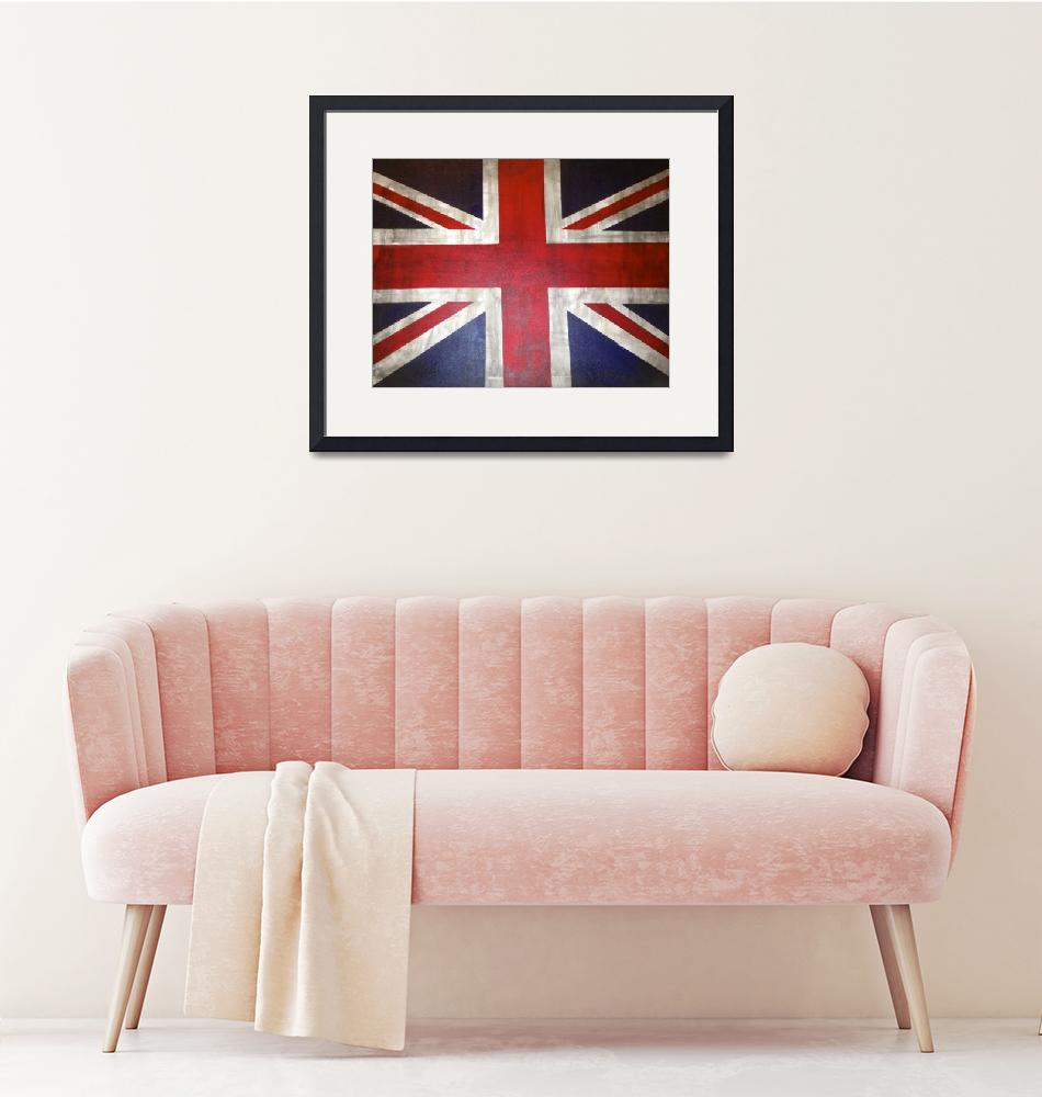 """""""A Rustic UK/ British Flag""""  (2013) by TheArtwerks"""