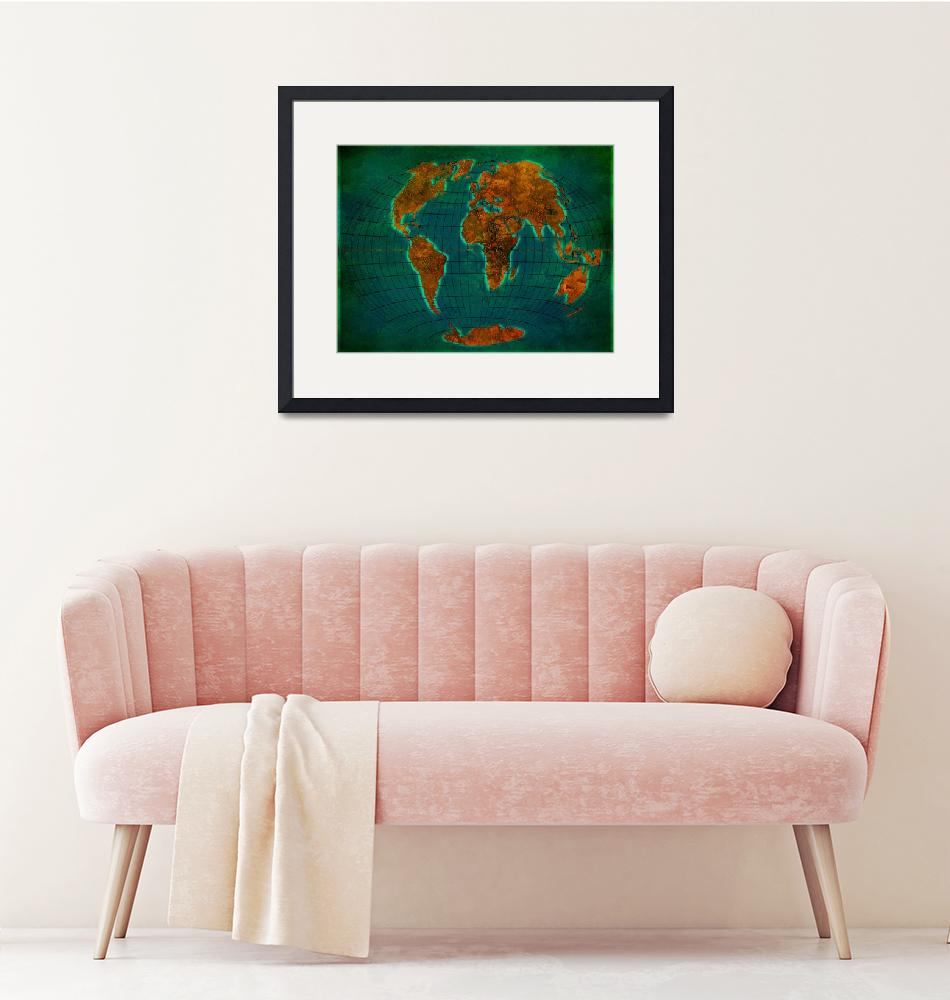 """""""World Map 1b"""" (2013) by Marian1"""
