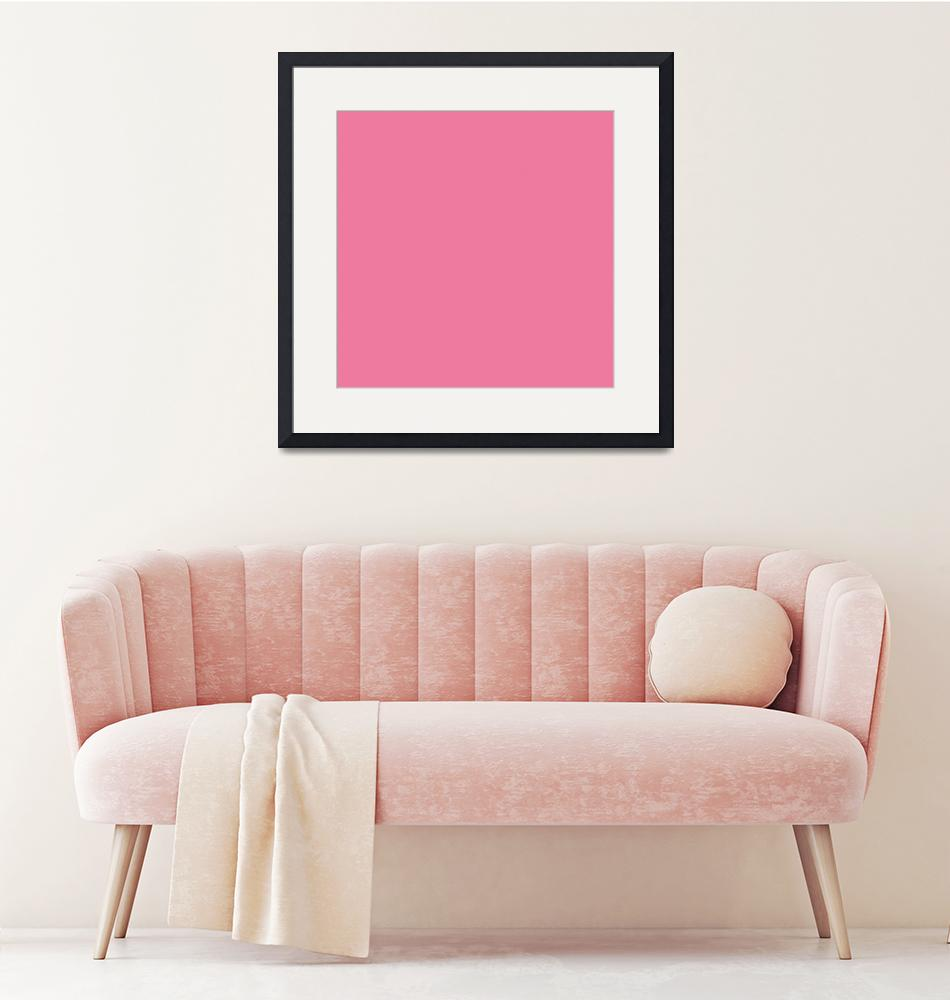 """Square PMS-204 HEX-ED7A9E Pink Magenta Red""  (2010) by Ricardos"
