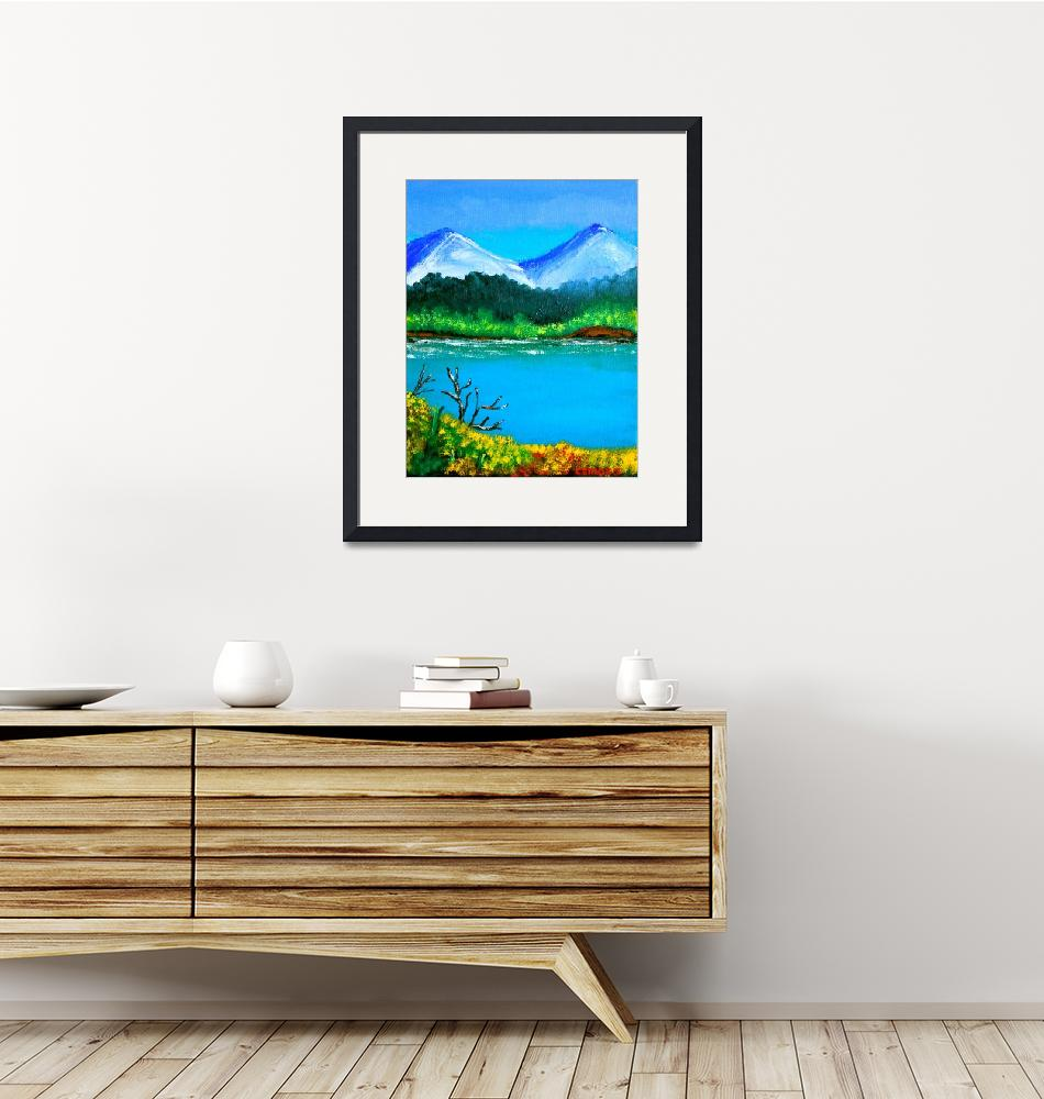 """""""Hills by the Lake""""  (2013) by cyrilmaza"""