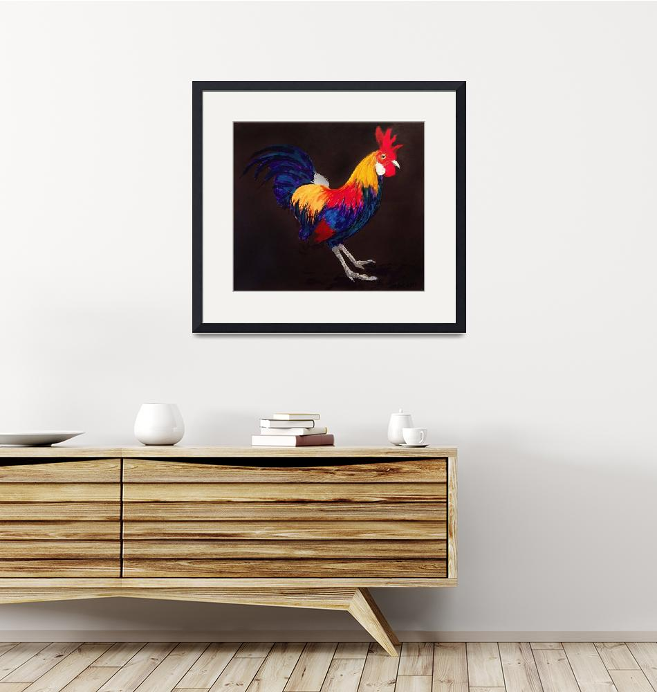"""""""Year of the Rooster 2017"""" (2017) by michaelandersonartprints"""