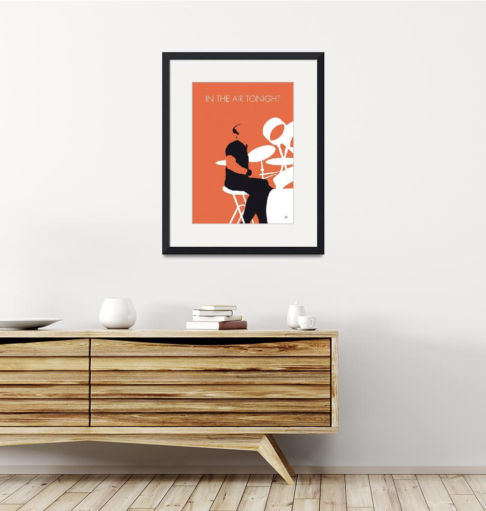 """""""No163 MY Phil Collins Minimal Music poster""""  by Chungkong"""