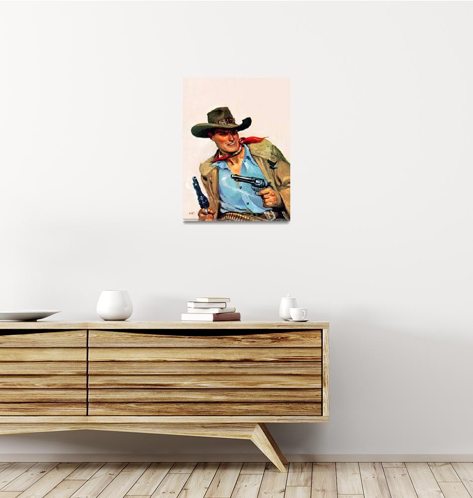"""Wild West Two Guns Cowboy""  by ArtLoversOnline"