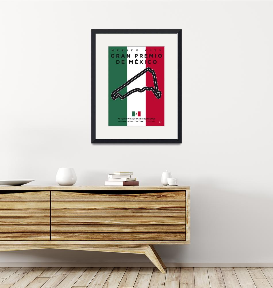 """""""My F1 Mexico Race Track Minimal Poster""""  by Chungkong"""