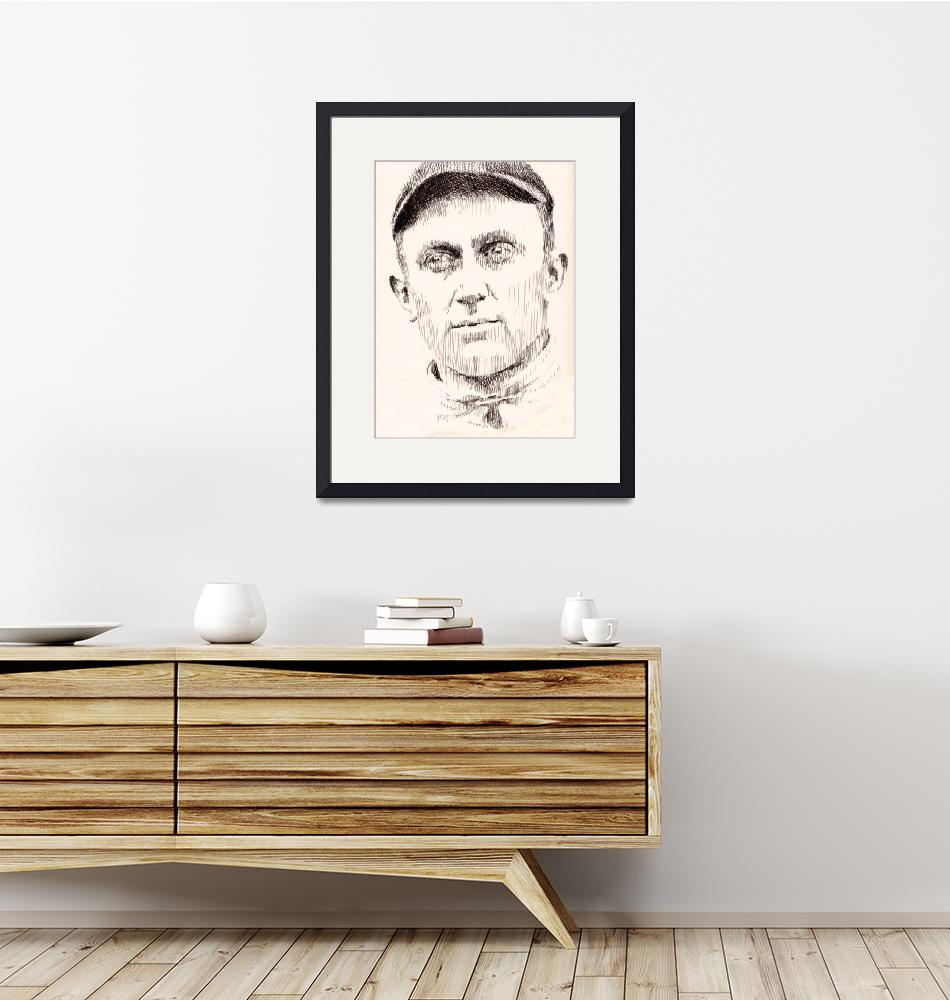 """Ty Cobb""  (2009) by Robbi"