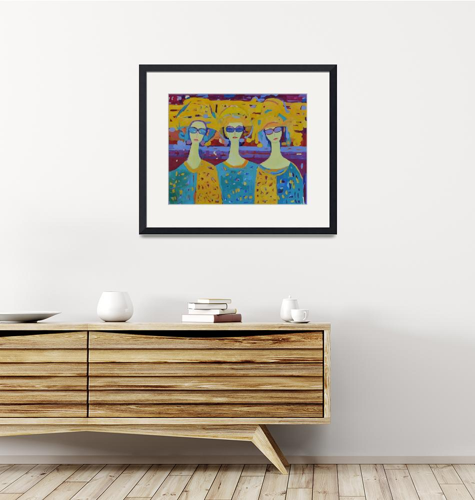 """""""Three Modern Angels Colorful Woman Painting""""  (2019) by Maggy"""