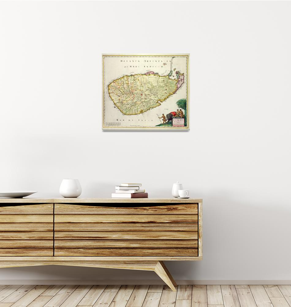 """""""Map of Ceylon""""  by fineartmasters"""