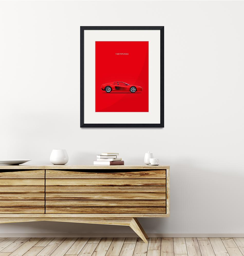 """Ferrari Testarossa"" (1987) by mark-rogan"