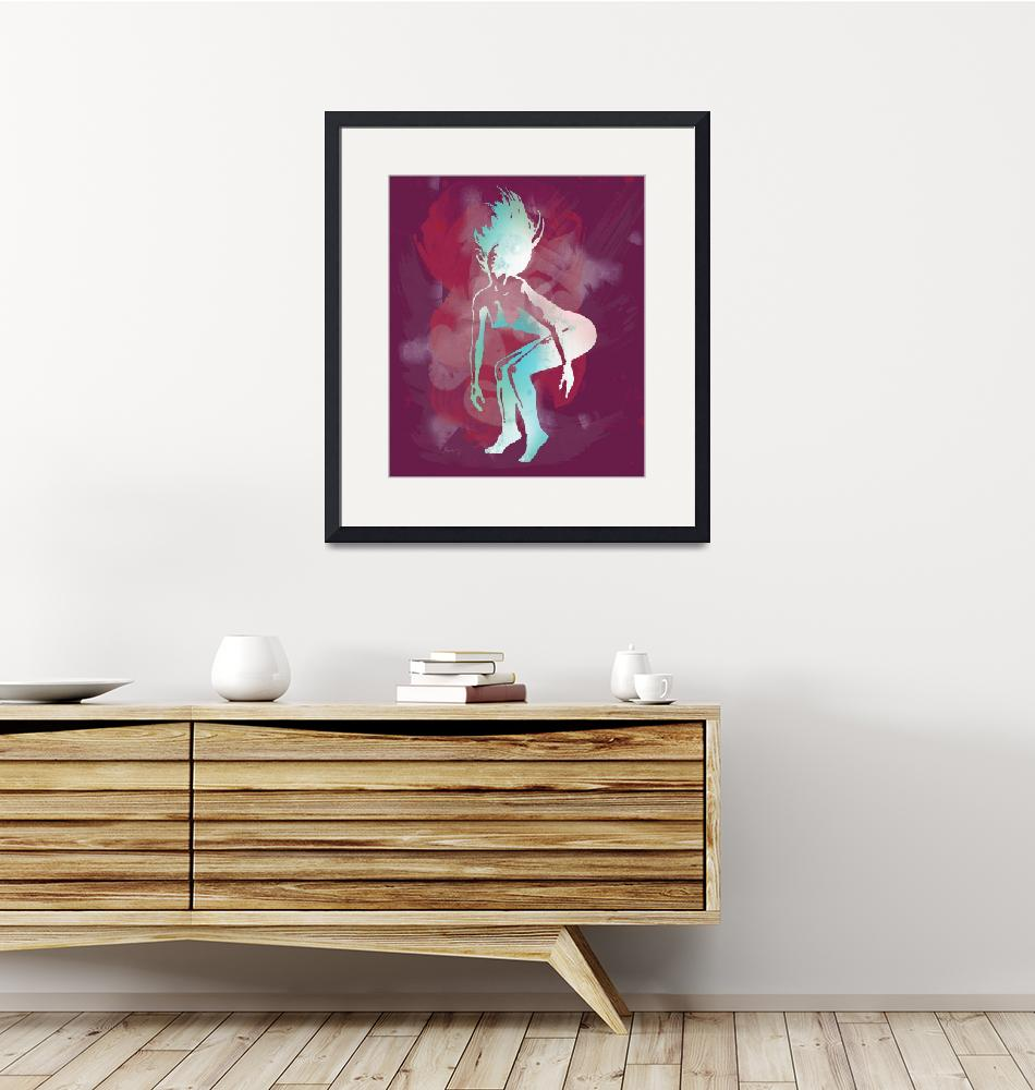 """""""Pop art nude dancing etching poster""""  (2014) by visualharbour"""