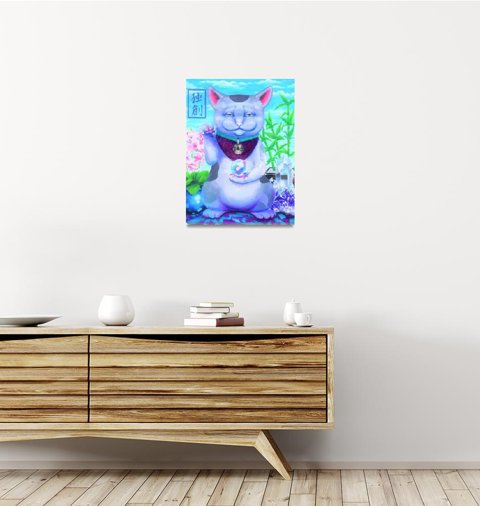 """Creativity Cat""  (2019) by unicorn-crossing"