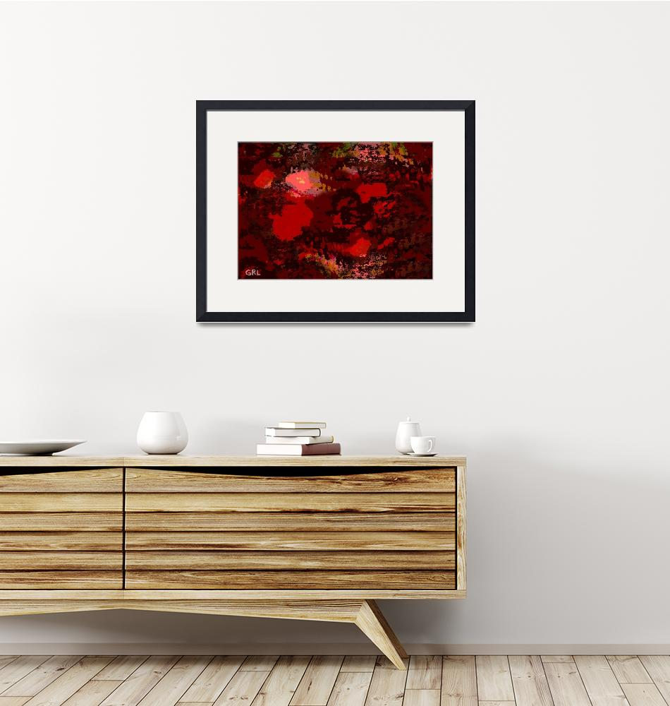 """""""COLOR OF RED II CONTEMPORARY DIGITAL ART""""  by grl"""