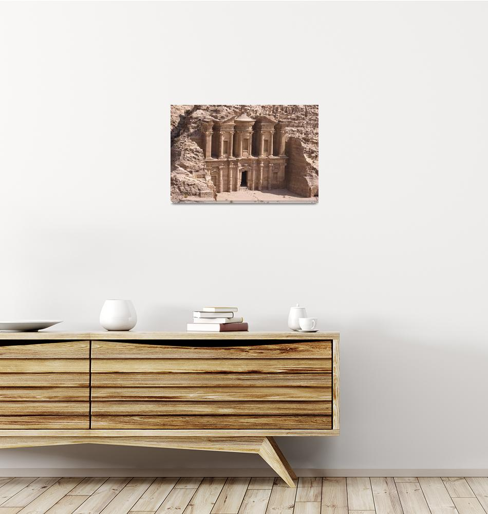 """Monastery at Petra""  (2007) by dbhalbur"