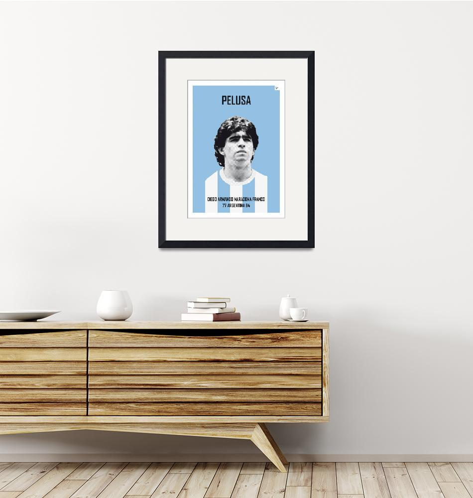 """My MARADONA soccer legend poster""  by Chungkong"