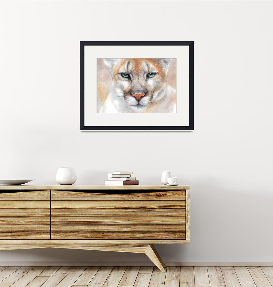 """""""Intensity - mountain lion - puma - panther""""  (2018) by MightyFineArt"""