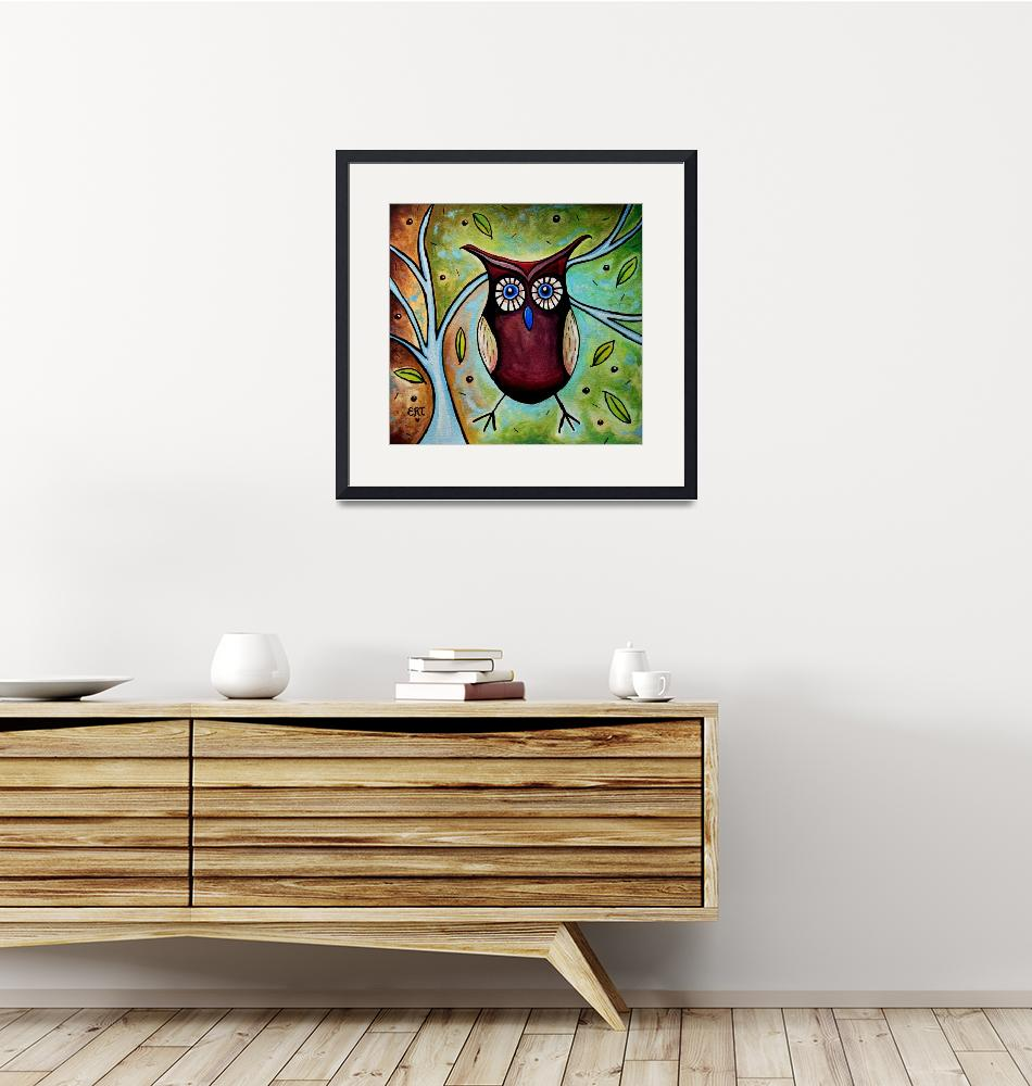 """""""The Whimsical Owl""""  (2011) by ElizaArt"""