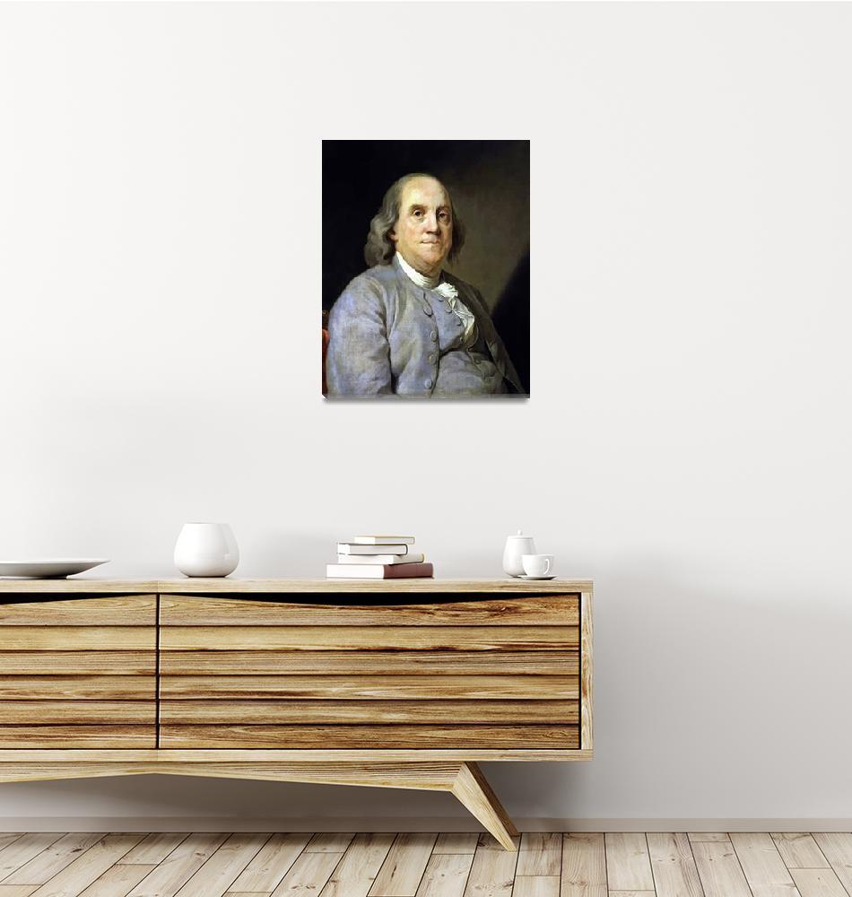 """Digitally restored vector painting of Benjamin Fra""  by stocktrekimages"