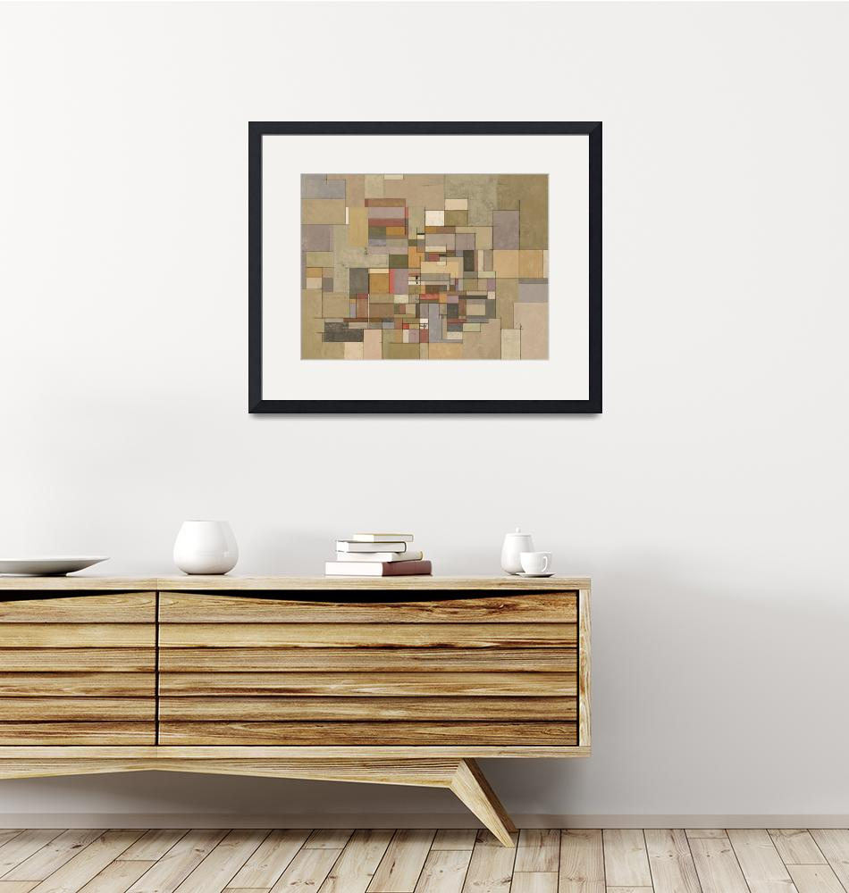 """""""Sandstone Strata Abstract Painting""""  (2014) by karynlewis"""