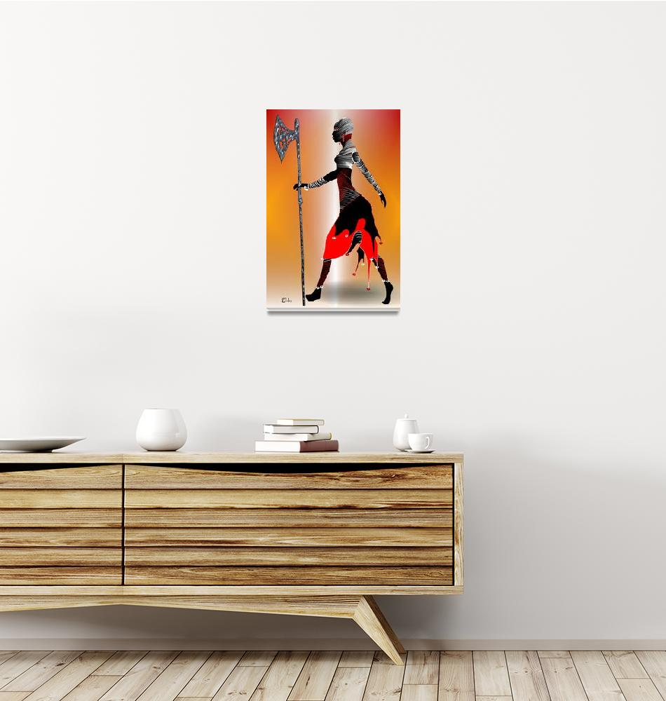 """TheYoung  Warrior, Yaa Asantewaa""  (2015) by lindabrenyah"