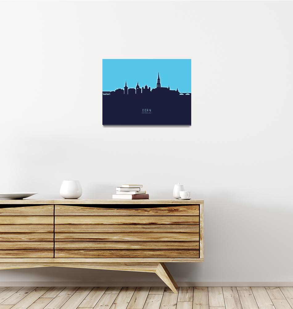 """Bern Switzerland Skyline""  (2020) by ModernArtPrints"
