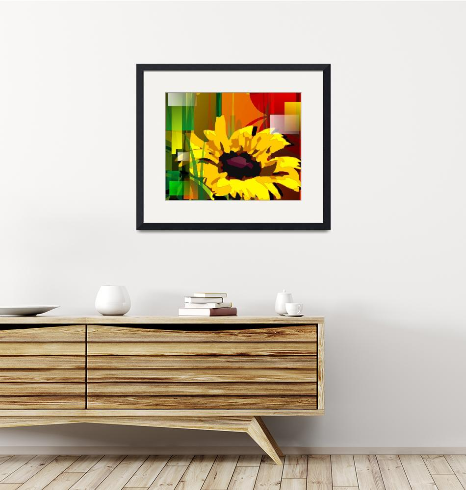 """Digital painting of a sunflower.""  (2009) by digitalpainting"