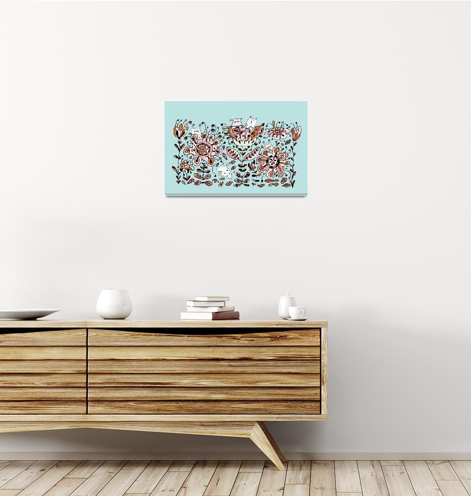 """""""Flower Monsters""""  by artlicensing"""