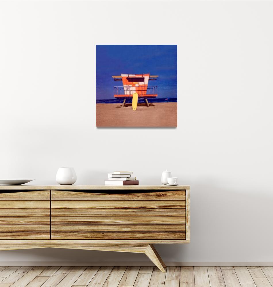 """Miami Beach FL, Lifeguard Stand #4""  (1999) by joegemignani"