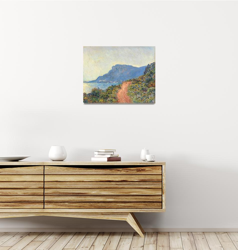 """La Corniche near Monaco by Monet""  by FineArtClassics"