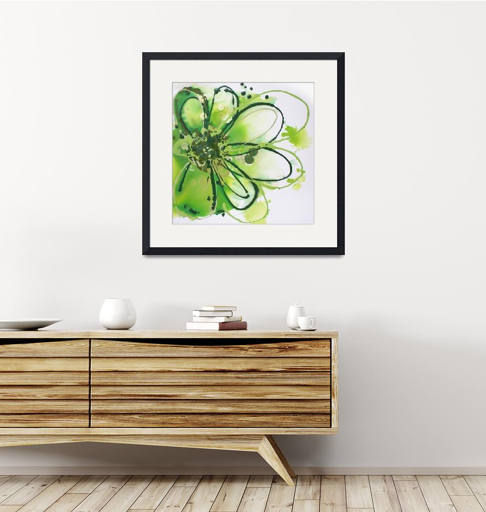 """Green Abstract Splash""  by Aneri"