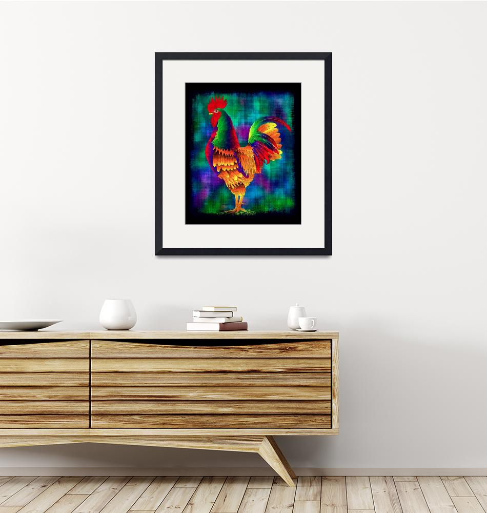 """""""Colorful Rooster (2)""""  (2010) by myikpix"""