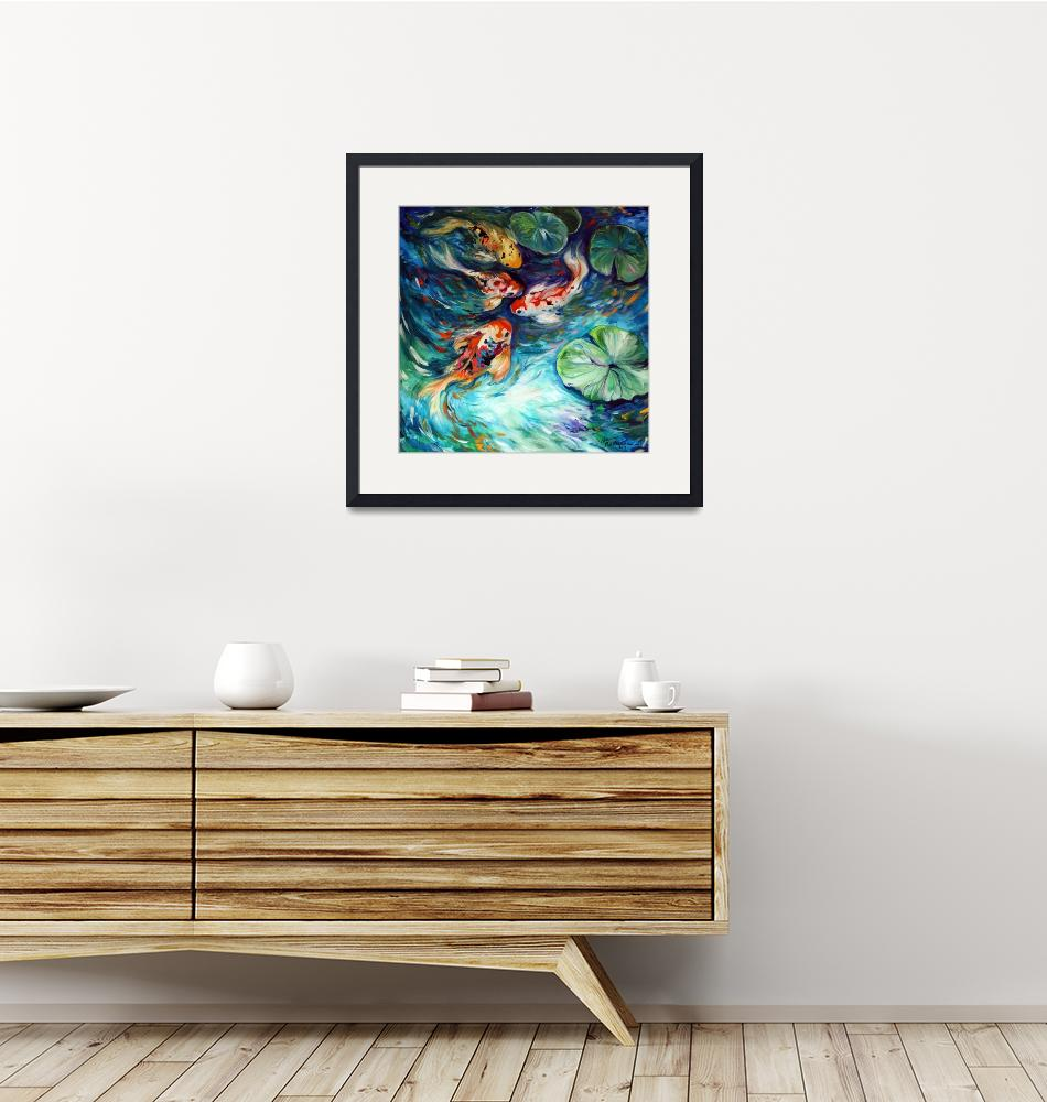 """""""DANCING COLORS KOI""""  (2011) by MBaldwinFineArt2006"""