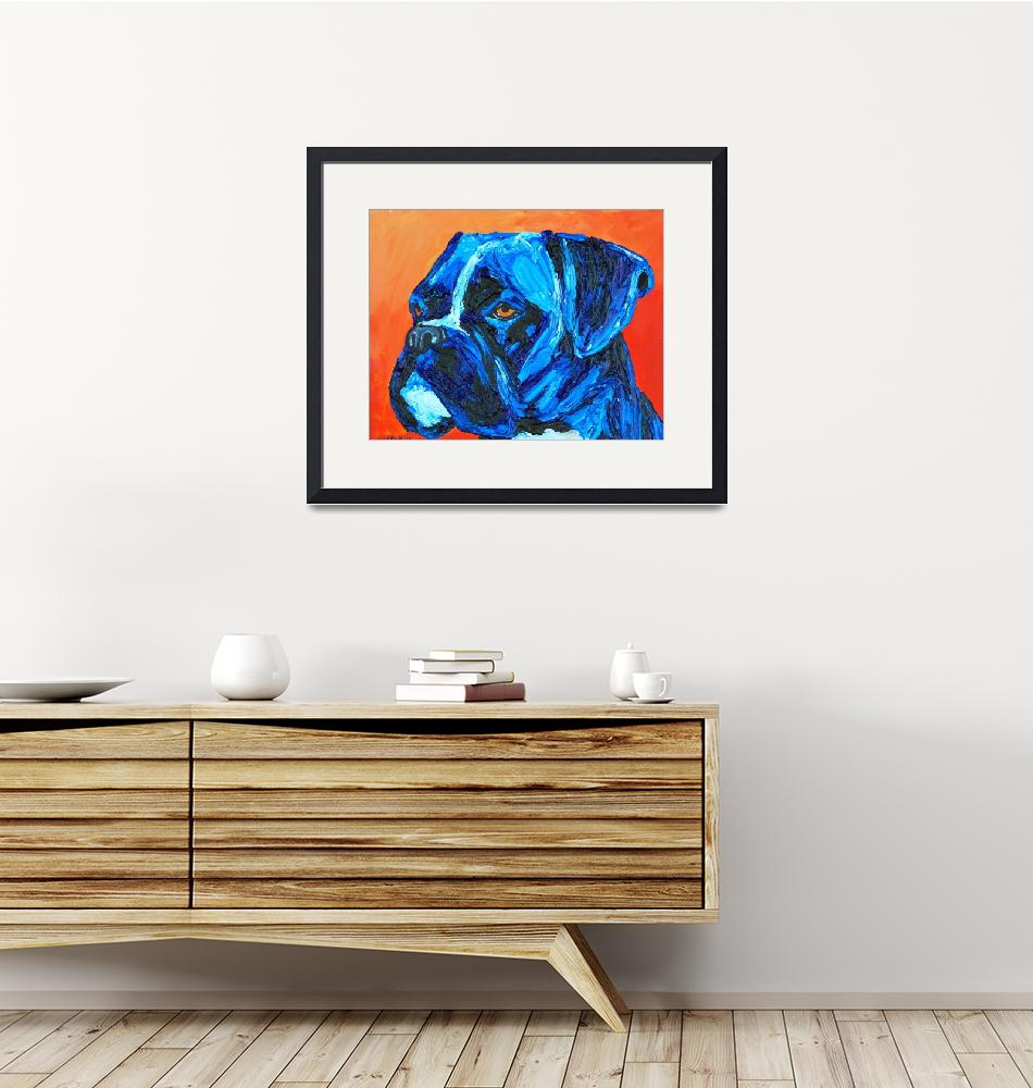 """Blue Boxer""  (2013) by Rmbartstudio"