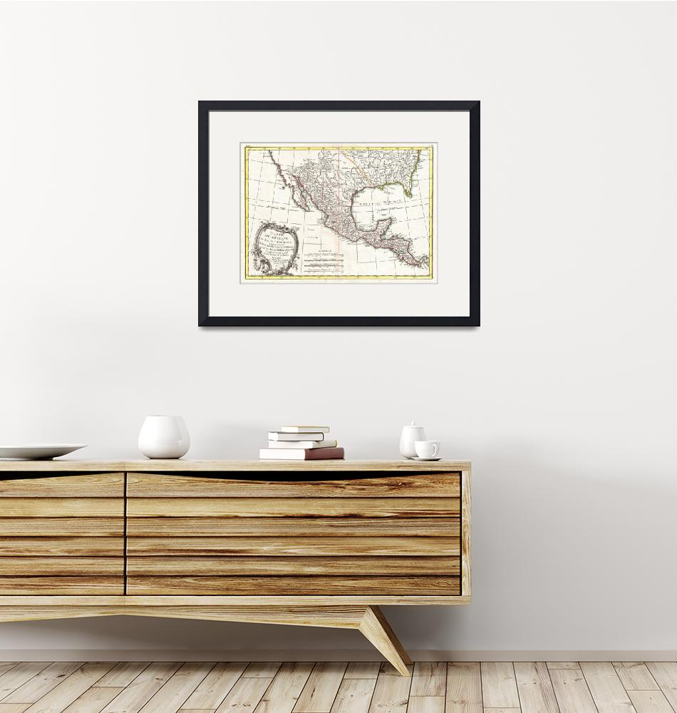 """""""Vintage Map of Mexico (1771)""""  by Alleycatshirts"""